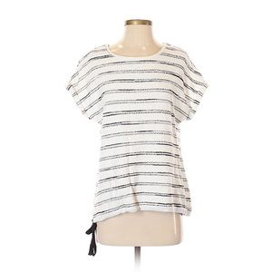 [Vince Camuto] Striped textured knit top.